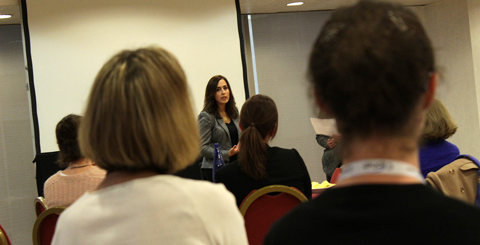 MONICA ANGELOVA WAS A SPEAKER AT THE WOMEN SERIES AT THE SCIP EUROPEAN SUMMIT IN MADRID SPAIN