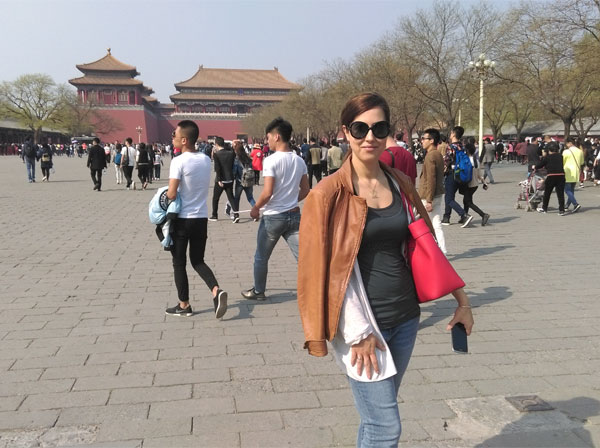 At the Forbidden City in Beijing, China!