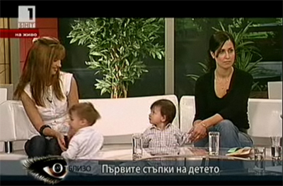On Bulgarian National Television with my baby boy